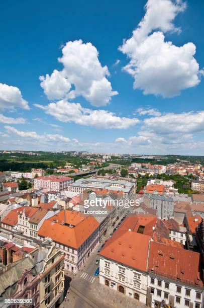 view over the old town of pilsen, czech republic - plzeň stock pictures, royalty-free photos & images