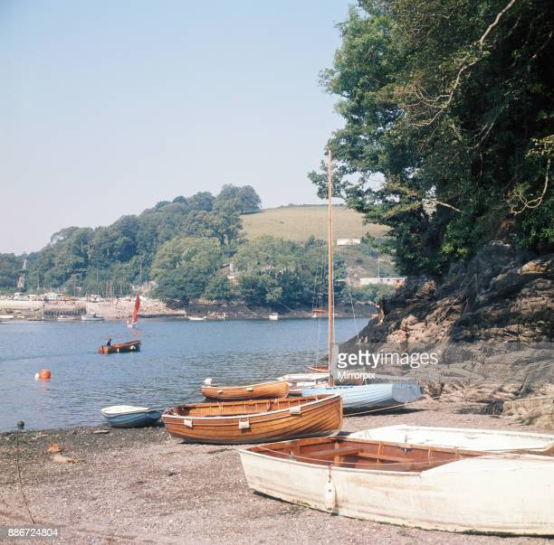View over the River Fowey from Bodinnick Cornwall 1973