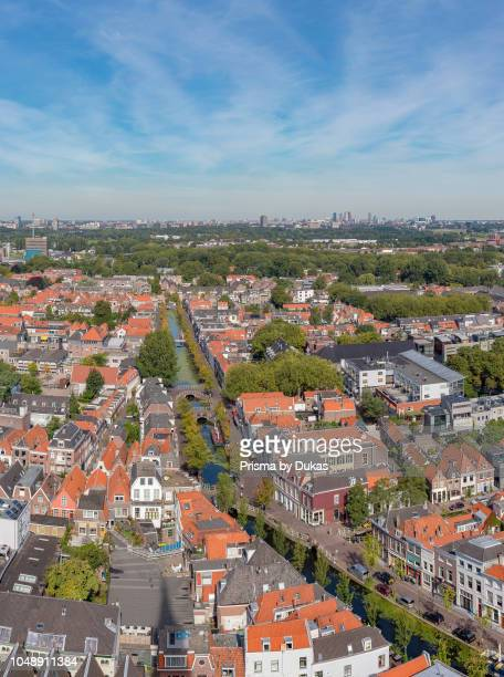 View over the roofs from the tower of the New Church Delft ZuidHolland Netherlands