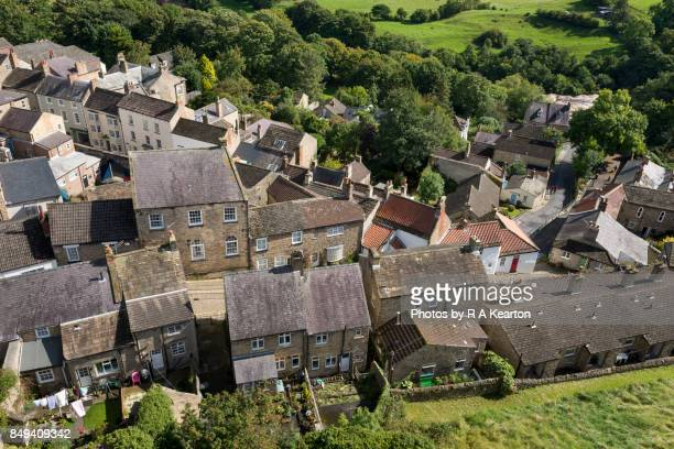 View over the rooftops at Richmond in North Yorkshire, England