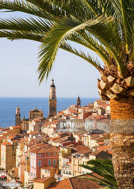 View over the rooftops of Menton, South of France