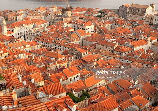 View over the rooftops of the old town in the city of Dubrovnik