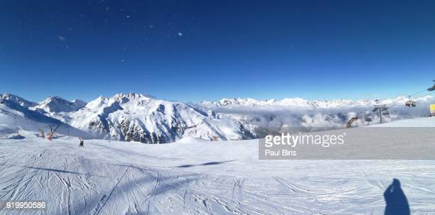 View over the skiing area Serfaus Fiss Ladis, Tyrol,  Austria
