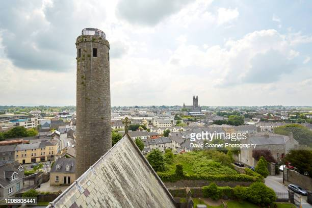 a view over the skyline of county kildare, ireland - kildare stock pictures, royalty-free photos & images