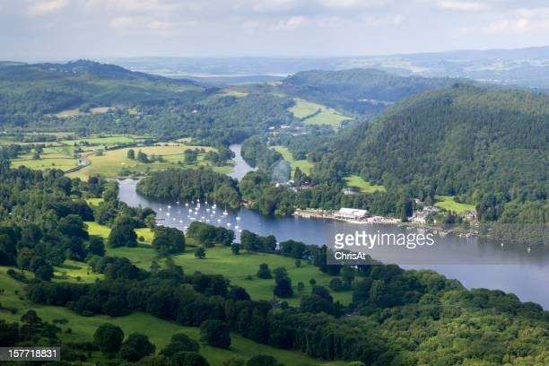 View over the southern end of Lake Windermere, Cumbria, UK