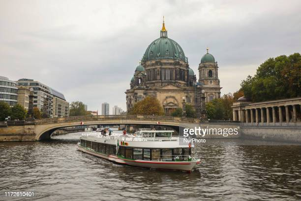 View over the Spree River and Berlin Cathedral in Berlin, Germany on 25th September, 2019.