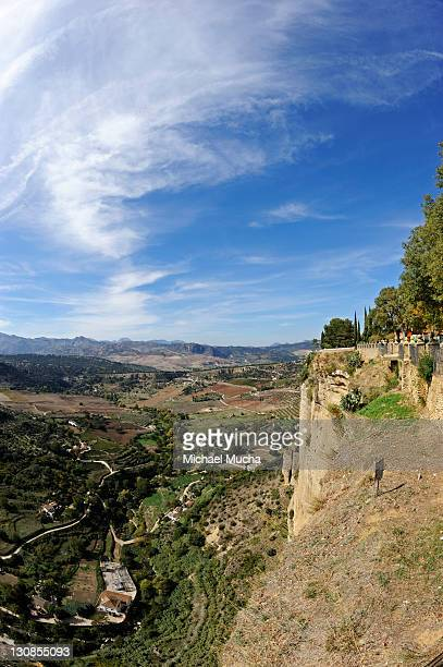 view over the surrounding area, ronda, andalucia, spain, europe - michael mucha stock-fotos und bilder