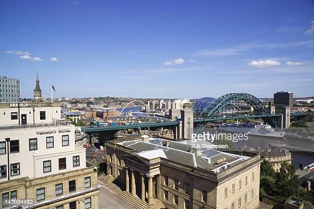 View over the Tyne Bridges, Newcastle on Tyne, Tyne and Wear, England