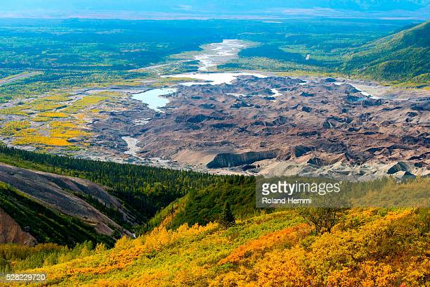 View over the valley with Root Glacier; Kennicott, Alaska, United States of America