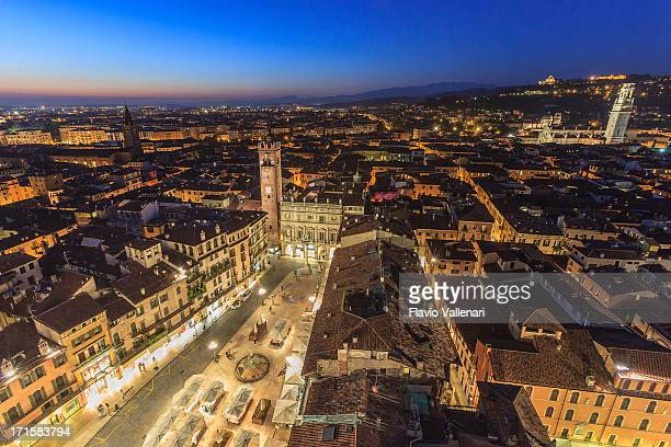 view over verona - veneto stock pictures, royalty-free photos & images