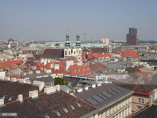View over Vienna from atop the Stephansdom Stephansplatz Vienna Austria 20 June 2006 FAIRFAX Picture by CHRISTINE SONNLEITNER