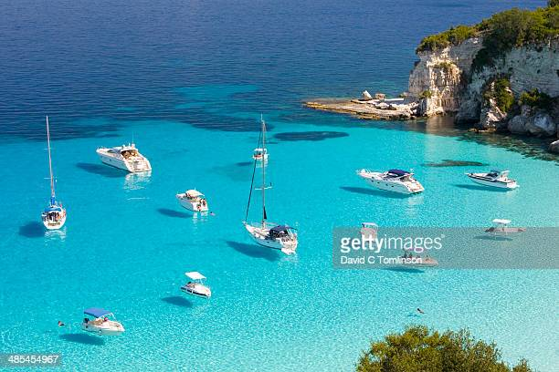 View over Voutoumi Bay, Antipaxos, Greece