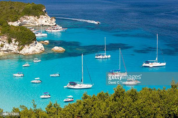 View over Voutoumi Bay, Antipaxos, Greece
