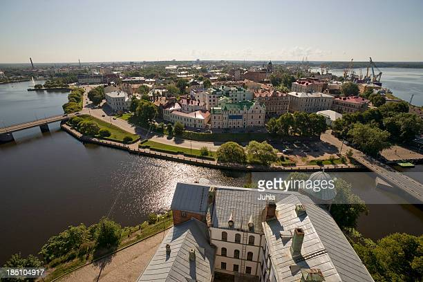 view over vyborg/russia - leningrad oblast stock pictures, royalty-free photos & images