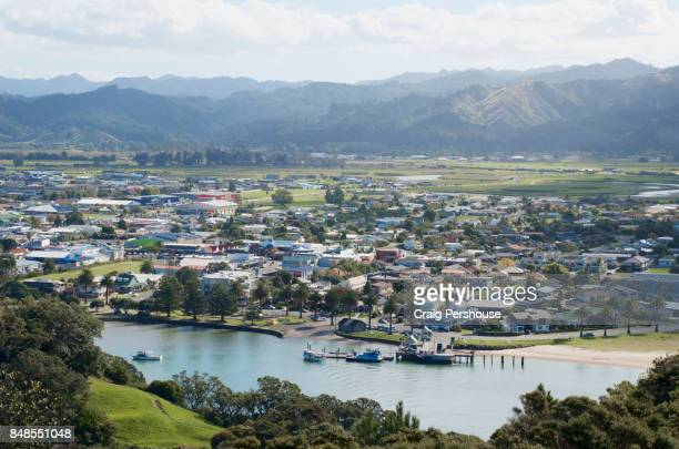 View over Whitianga Harbour to Whitianga town from Whitianga Rock Scenic and Historical Reserve.