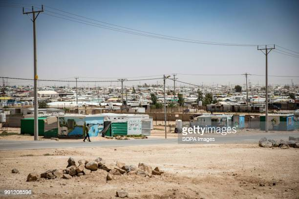 View over Zaatari camp There are about 14 million Syrian refugees in Jordan and only 20 percent are living in the refugee camps with the majority...