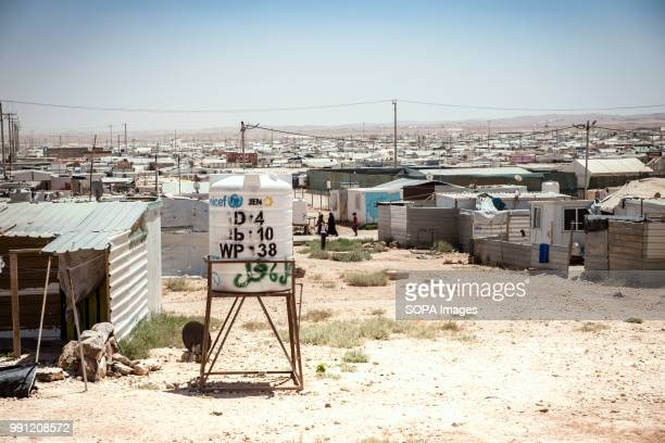 View over Zaatari refugee camp There are about 14 million Syrian refugees in Jordan and only 20 percent are living in the refugee camps with the...