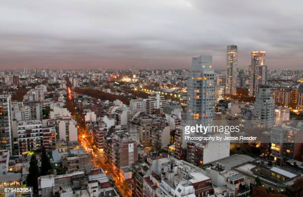 View overlooking Buenos Aires at dusk