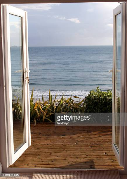 View overlooking ocean