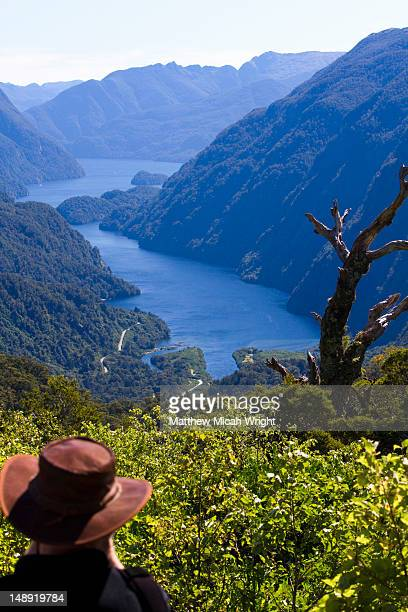 A view overlooking the Doubtful Sound entry point. You must drive from Lake Manapouri to the Sound