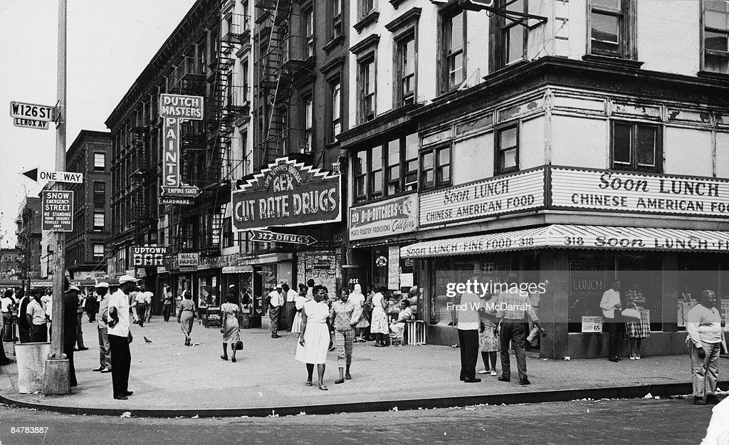 125th & Lenox, 1963 : News Photo