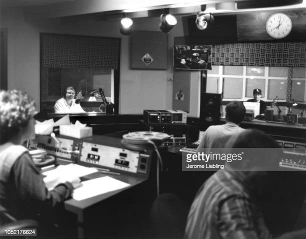 View people in the control room at National Public Radio headquarters Washington DC July 1992 Among those visible is American radio journalist and...