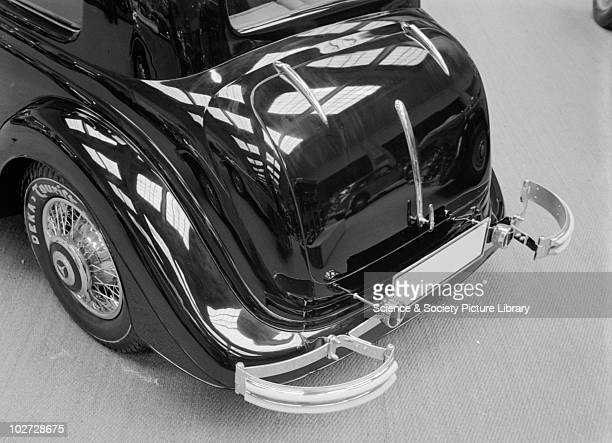 View rear of Mercedes Benz car at Berlin Exhibition Photograph taken during Berlin Automobile Exhibition, 1935. Zoltan Glass Number: