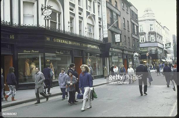 A view showing a Dublin street scene
