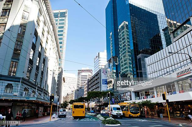 A view shows Lambton Quay the main shopping street in Wellington New Zealand on Wednesday March 30 2011 Tenants in New Zealand's capital are...
