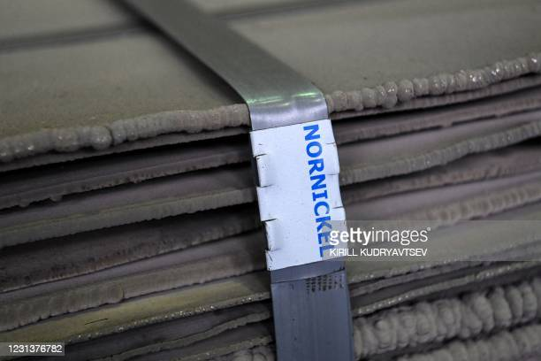 View shows nickel sheets at Kola Mining and Metallurgical Company , a unit of Russia's metals and mining company Nornickel, in the town of...
