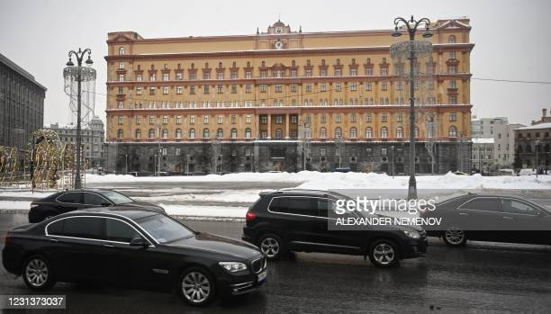 View shows the headquarters of the Federal Security Service , the successor agency to the KGB, and Lubyanka Square in front of it in central Moscow...