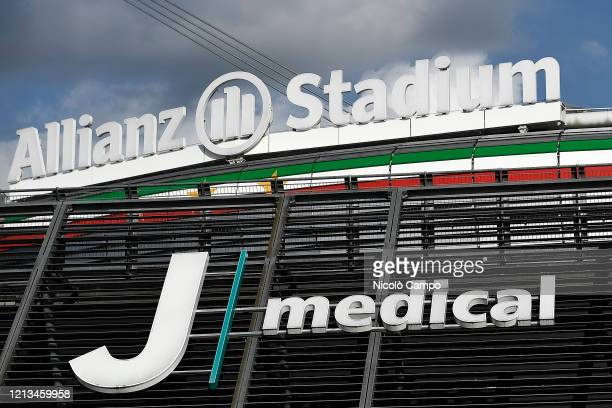 A view shows the medical center 'J medical' at Allianz Stadium Serie A plans to resume its season on 13 June subject to government approval after the...
