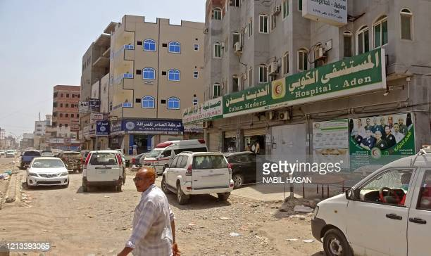 View shows the private al-Kubi hospital in Yemen's southern coastal city of Aden on May 17 amid fears that coronavirus is spreading unhindered in the...