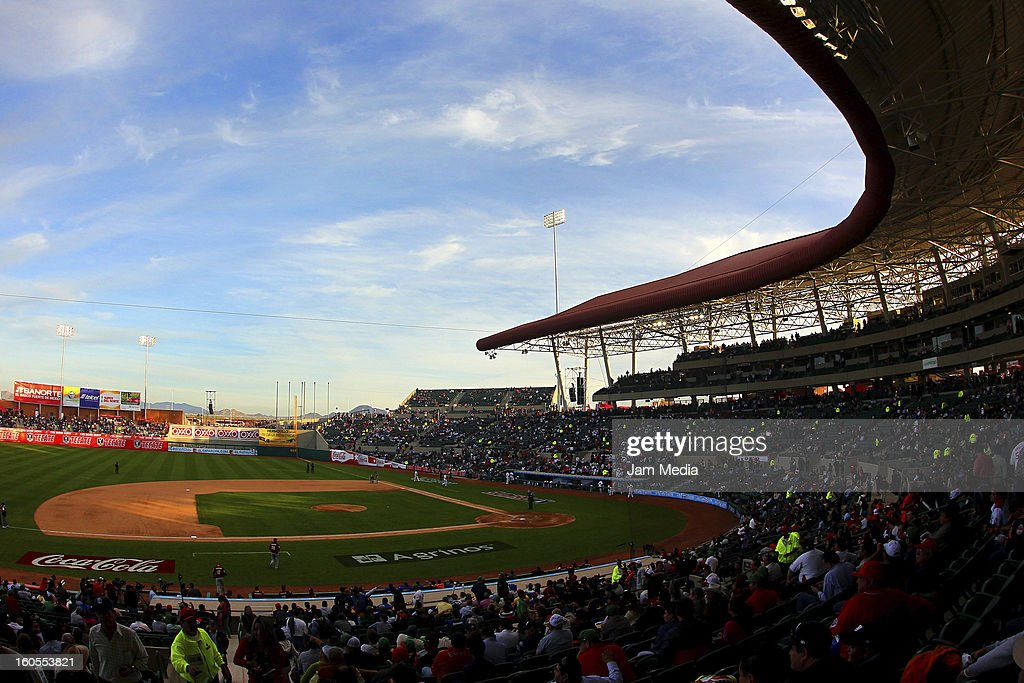 View Sonora stadium during the Caribbean Series Baseball 2013 in Sonora Stadium on february 1, 2013 in Hermosillo, Mexico.