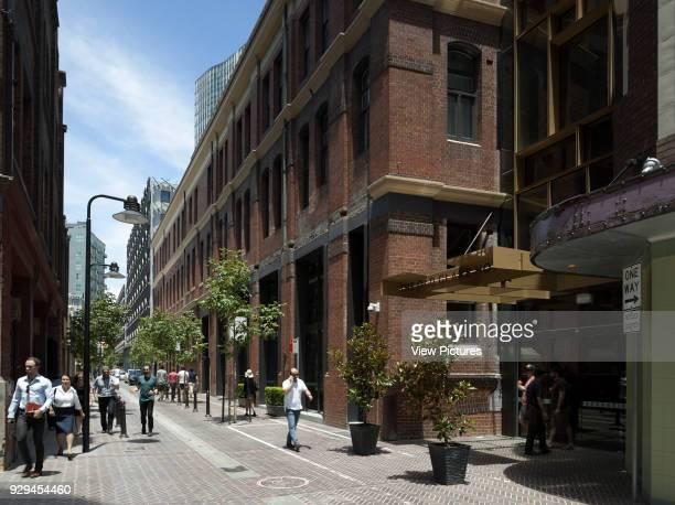 View south along Kensington Street to hotel entry The Old Clare Hotel Sydney Australia Architect Tonkin Zulaikha Greer 2015