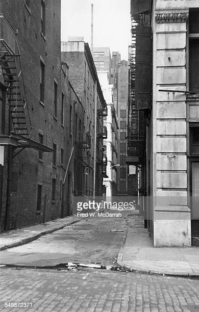 View south into Great Jones Alley from Great Jones Street New York New York November 24 1964