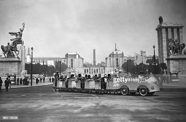 View taken 05 June 1937 of the Trocadero during the 1937 World exhibition or Exposition Internationale des Arts et Techniques dans la Vie Moderne...