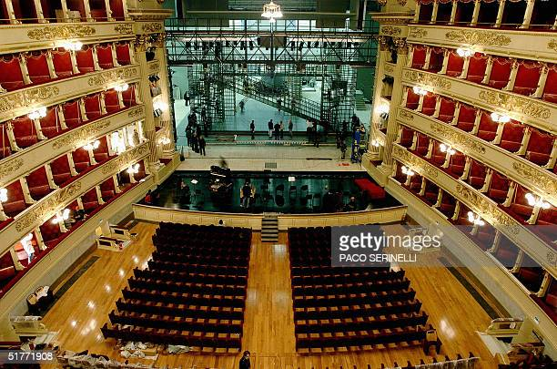 View taken 19 November 2004 of the Mian's La Scala opera house after a threeyear works The famous opera house is set to reopen its doors to the...