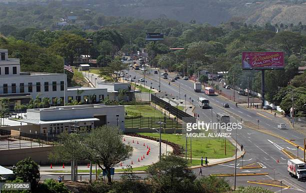 View taken 24 January 2008 of the new US Embassy compound in Managua The brand new 88 millions dollar's bulding was inaugurated today in a official...