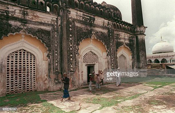 View taken 25 July 1992 of a 16th century mosque threatened by the construction of a controversial Rama temple because according to what Hindus from...