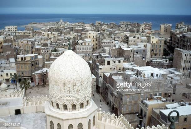 A view taken from the ElMursi AbulAbbas Mosque of the city below in Alexandria Egypt