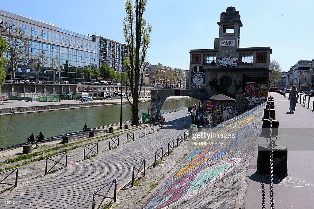 A view taken on April 25, 2013 of Paris' 'Le Point Ephemere,' which hosts bars, a restaurant, concerts, and artistic residences.