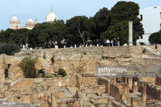 View taken on February 23 2010 of the archeologic site of Carthage Carthage was once the heart of a powerful Mediterranean empire before being...