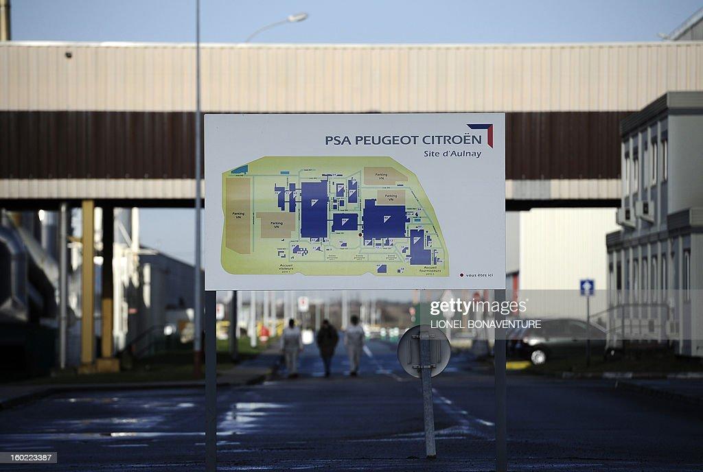 View taken on January 28, 2013 at the PSA Peugeot Citroen carmaker plant of Aulnay-sous-Bois, a Paris' suburb.