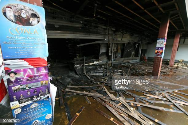 A view taken on January 9 2018 shows the Promo amp Destock store a French kosher grocery store in Creteil south of Paris after it was destroyed in an...