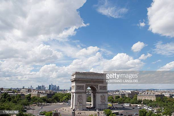 A view taken on July 28 2013 shows the Arc de Triomphe in Paris AFP PHOTO BERTRAND LANGLOIS
