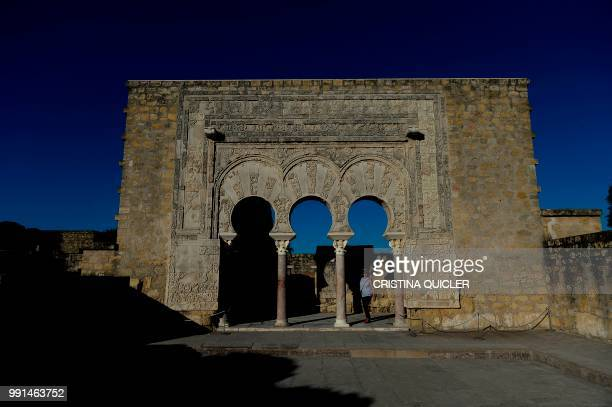 View taken on July 3 2018 of the House of Yafar at Caliphate City of Medina Azahara in Cordova southern Spain The Caliphate city of Medina Azahara an...