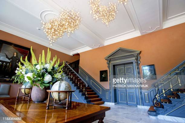 View taken on July 3 shows the interior of Huis ten Bosch royal palace one of three official residences of the Dutch Royal Famil in The Hague King...
