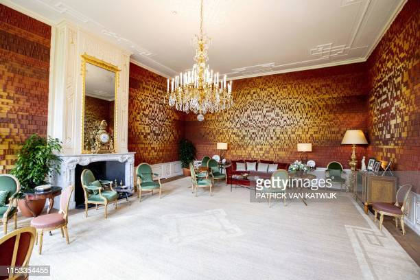 View taken on July 3 shows the interior of Huis ten Bosch royal palace one of three official residences of the Dutch Royal Famil in The Hague Dutch...