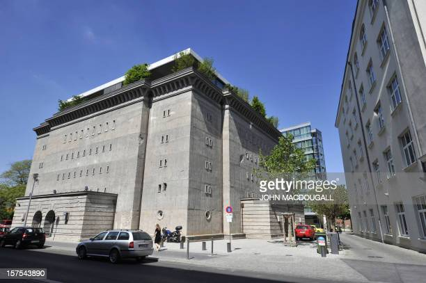 View taken on May 8 2008 shows a German World War II air raid shelter in Berlin's mitte district constructed in 1942 after plans by Adolf Hitler's...